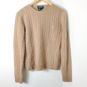 RALPH LAUREN Cashmere cable-Knit V-Neck Sweater
